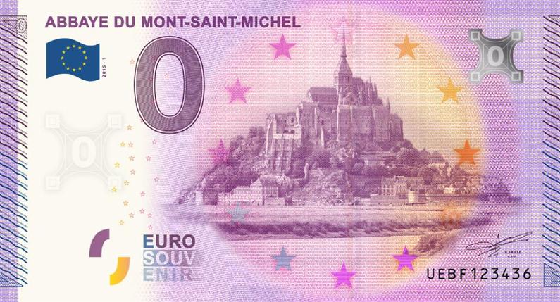 0€ billet souvenir touristique Richard Faille -Mont Saint-Michel