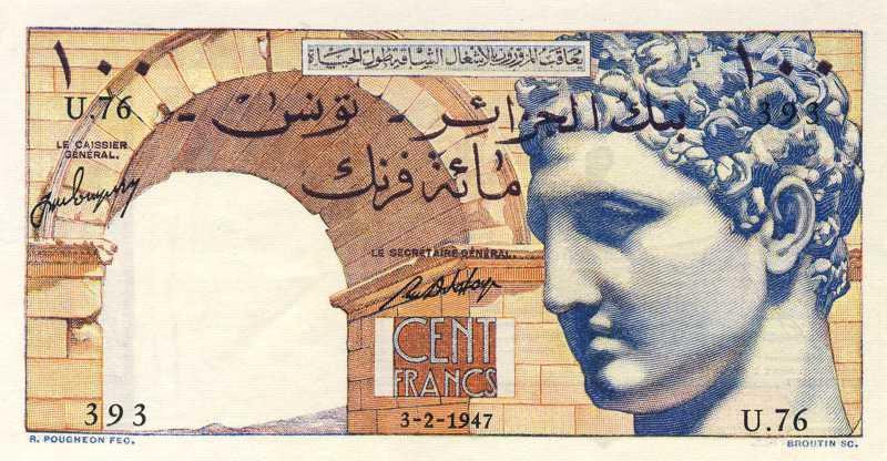 100 francs - Banque de l'Algérie - Tunisie