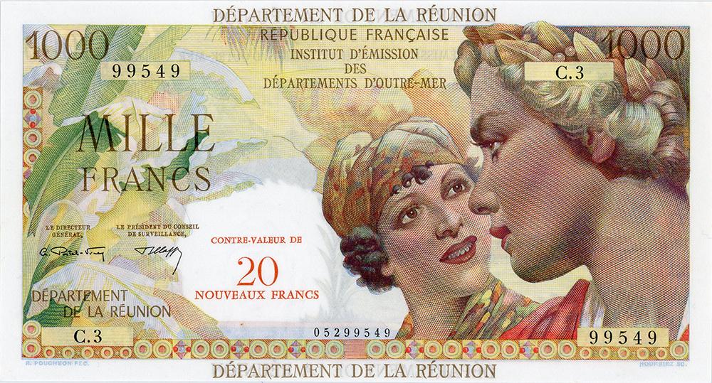 1000 francs - IEDOM - La Réunion