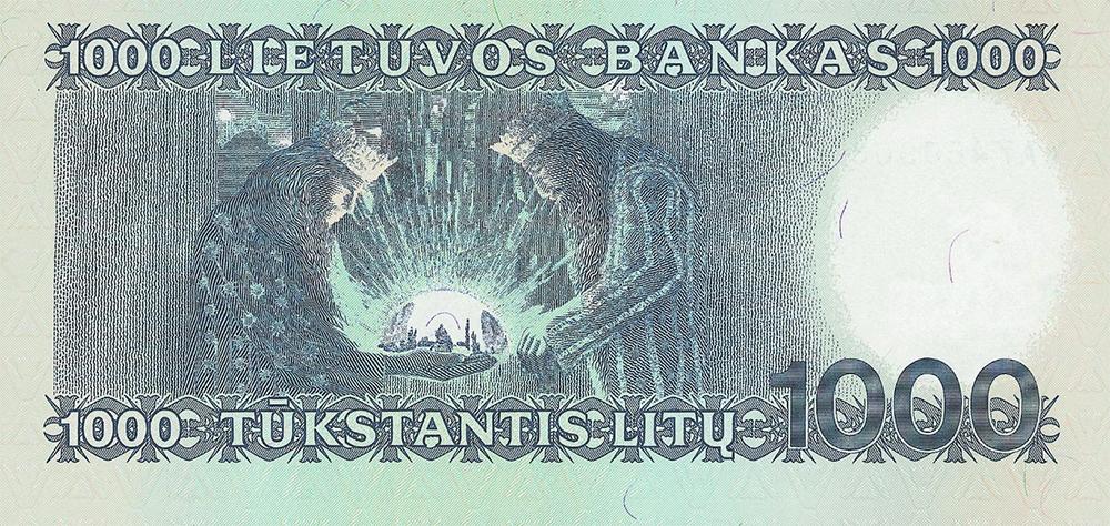 billet de 1 000 litas - Lituanie : Vente exceptionnelle d'un set de billets non émis !