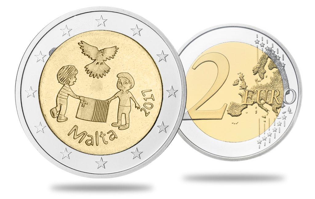 2€ Malte solidarité et paix pour es enfants 2017
