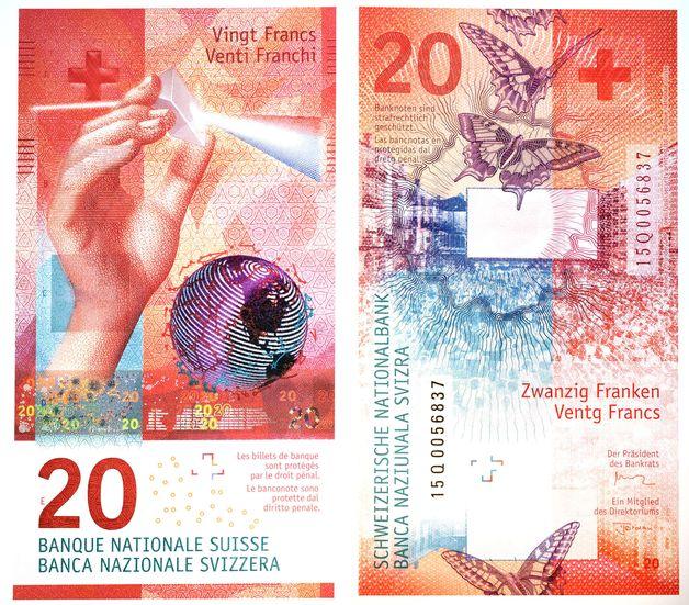billet 20 francs Suisse - La Banque nationale suisse achète son fabriquant de billets en difficulté