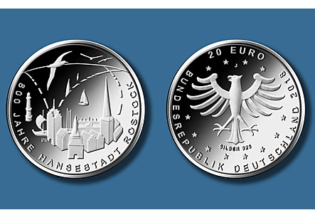 20€ - 800 years of the hanseatic city of ROSTOCK 2018