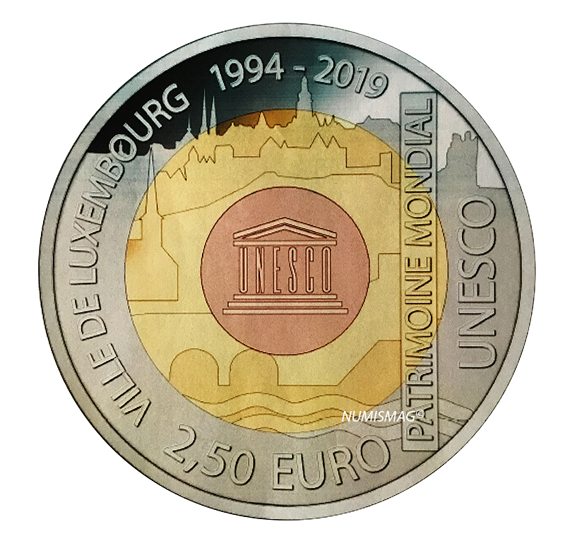 €2,5 Luxembourg city 2018