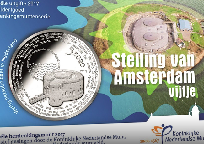 Defence line of Amsterdam, KNM 2017 commemorative coinages