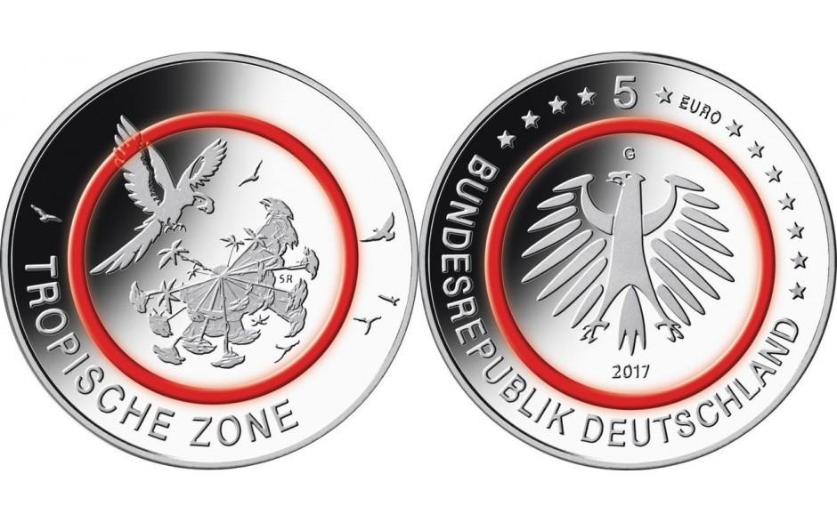 5 Euro Sondermünze Deutschland-2017-Tropische-Zone