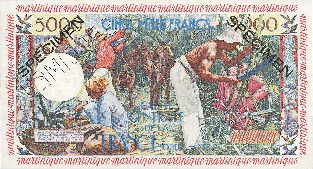 5000 francs Antillaise - IEDOM - Institut d'émission des départements d'outre-mer