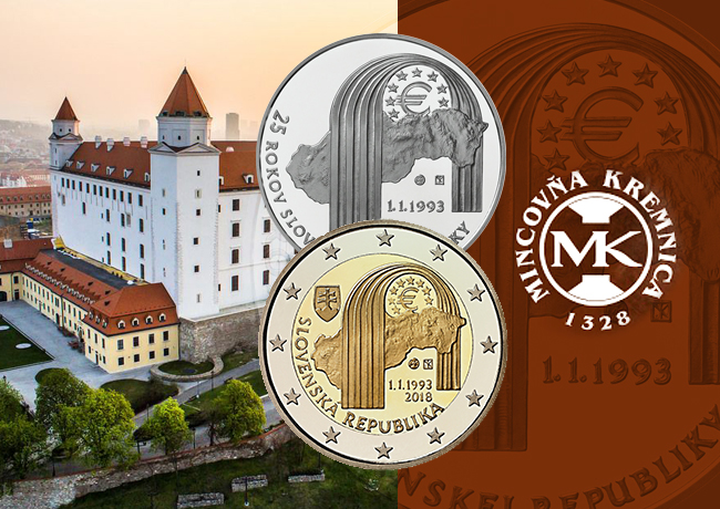 2018 slovak numismatic issues celebrating 25th anniversary of Republic