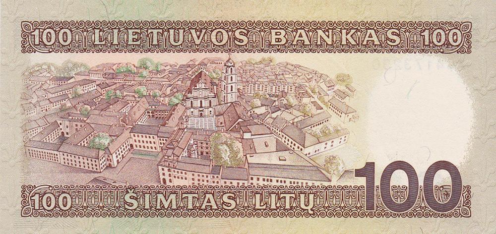 billet de 100 litas - Lituanie : Vente exceptionnelle d'un set de billets non émis