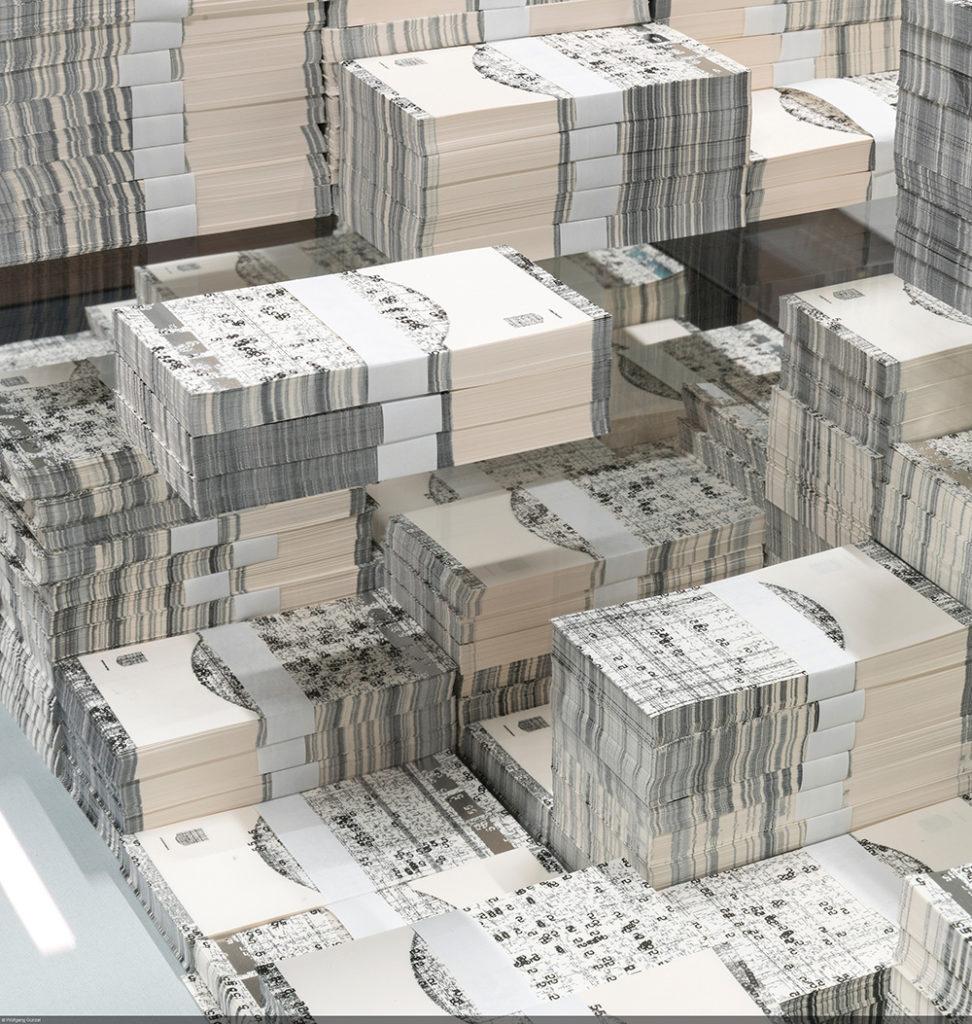 Quand l'art comtemporain s'empare du Billet de Banque - Exposition Michael Riedel - Bundesbank