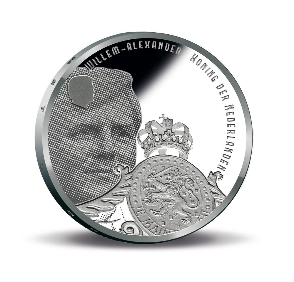 5 euro argent Pays Bas : Monnaies commémoratives Ligne de défense d'AMSTERDAM