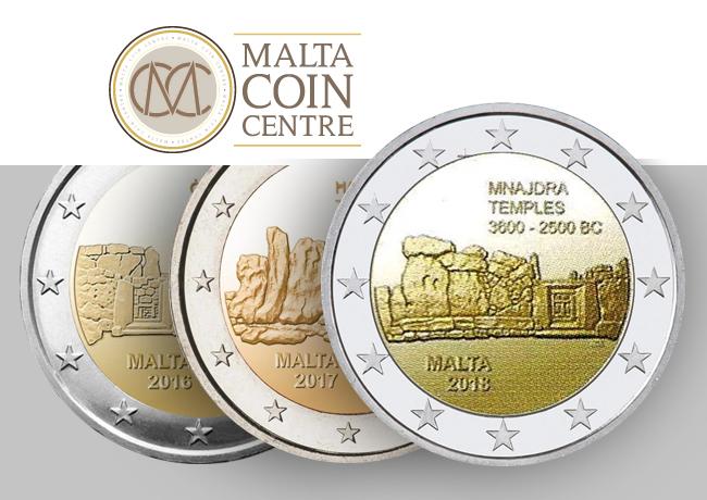 2€ 2018 temples de Mnajdra – série de 7 pièces commémoratives – Malte