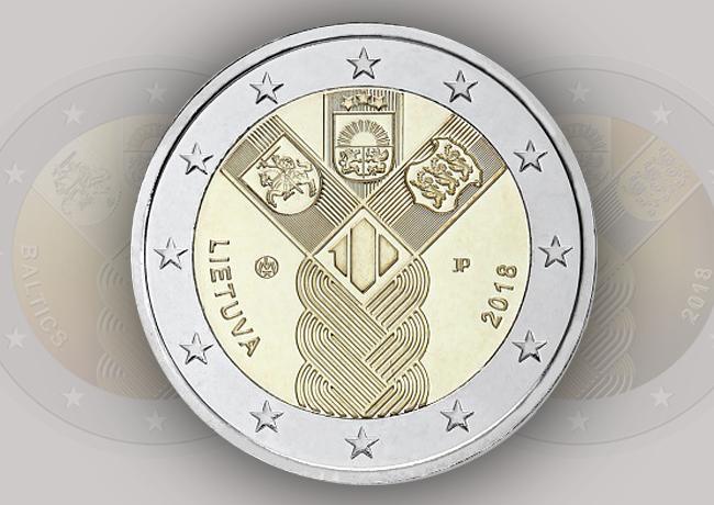 2€ 100 ans de l'indépendance des états baltes 2018 Estonie, Lettonie et Lituanie