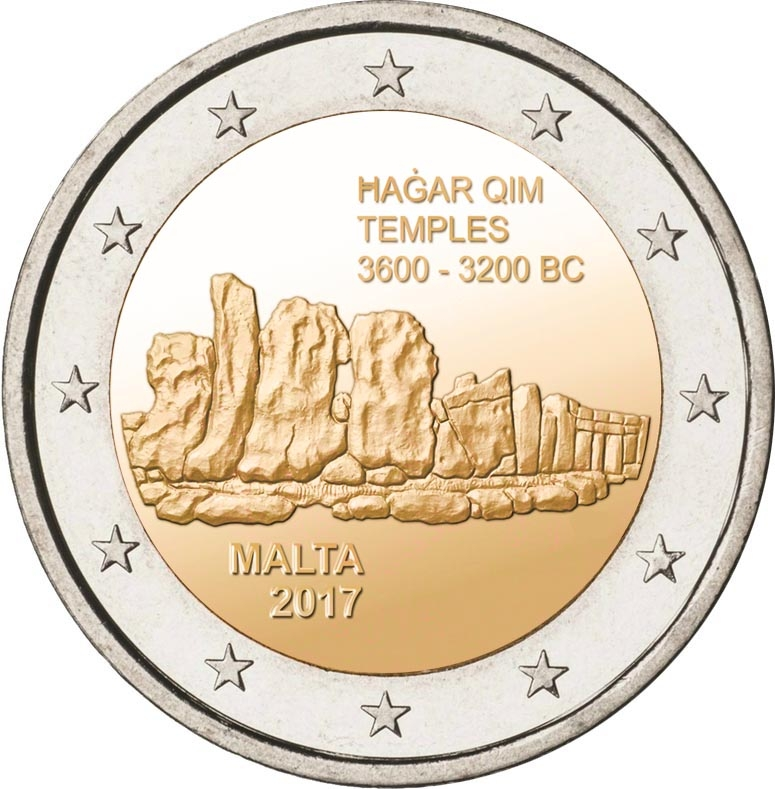 2€ temples de Hagar Qim Malte 2017
