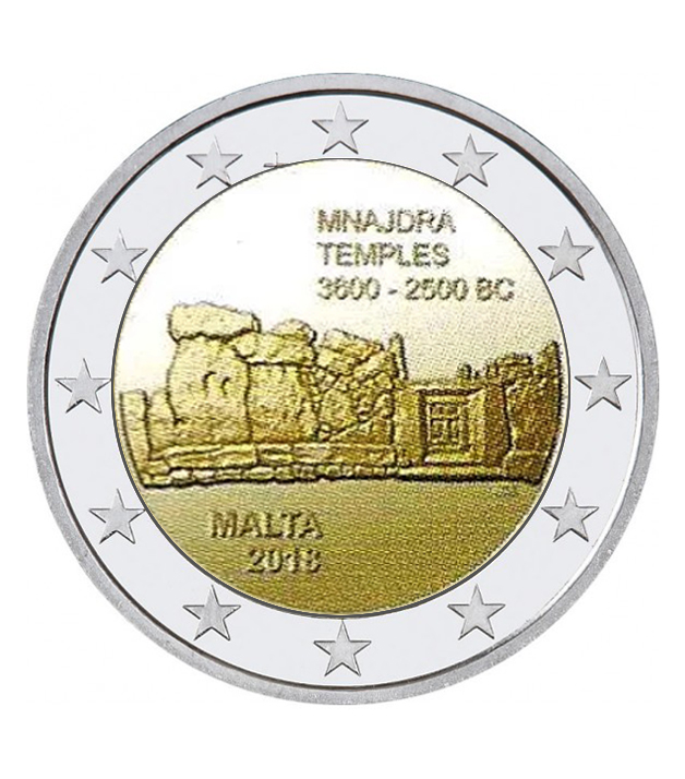 2018 MALTA €2 commemorative coin dedicated to MNAJDRA temples