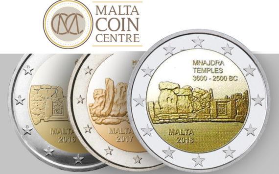 2018 MALTA €2 commemorative coin dedicated to MNAJDRA temples