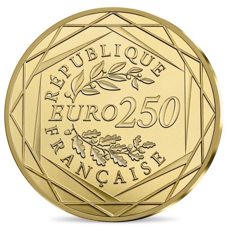 250€ Or Marianne 2018 - Monnaie de Paris programme 2018