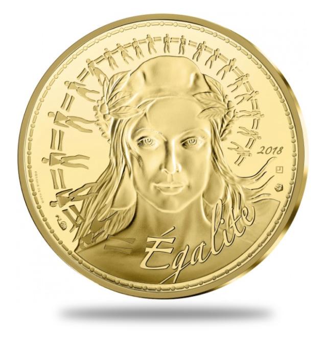 250€ Or Marianne 2018 - Monnaie de Paris programme 2018 MARIANNE - EGALITÉ - MONNAIE DE 250€ OR