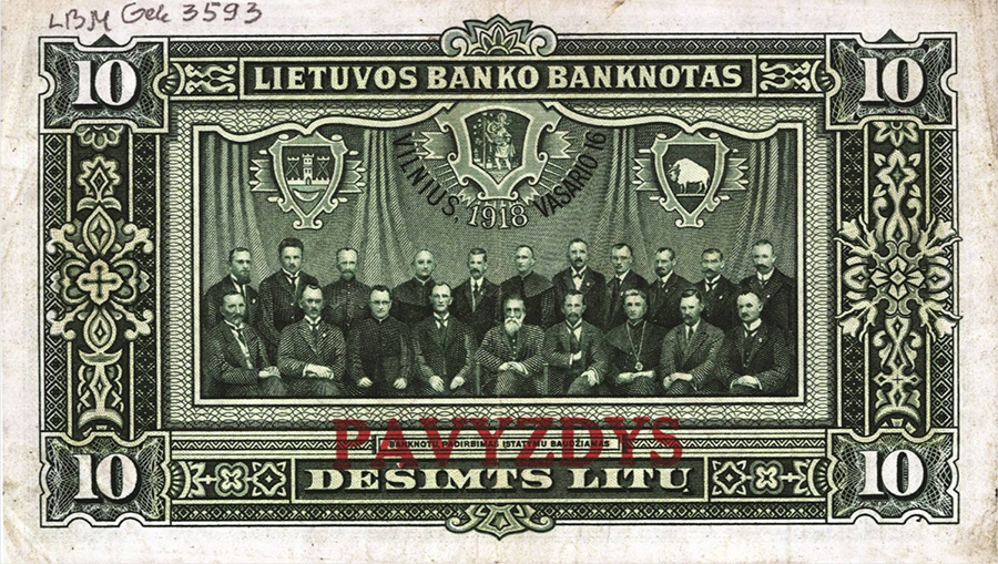 10 litas- lietuvos bankas - 1918
