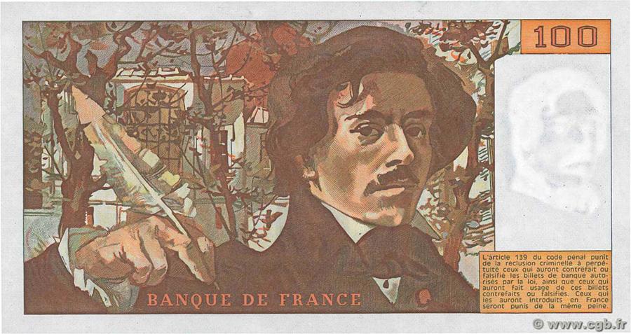 100 Francs Delacroix 1978 - fauté - Sans taille douce ni numérotation ni signature