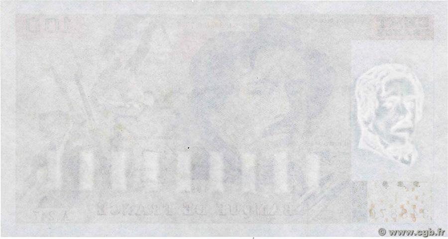 100 Francs Delacroix - fauté Uniface 1993