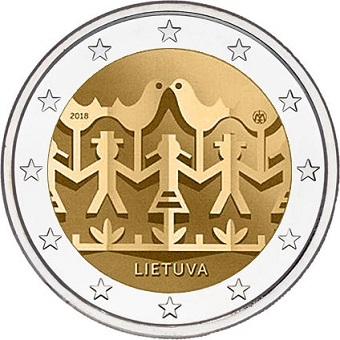 €2 - dedicated to the Lithuanian Song and Dance celebration 2018