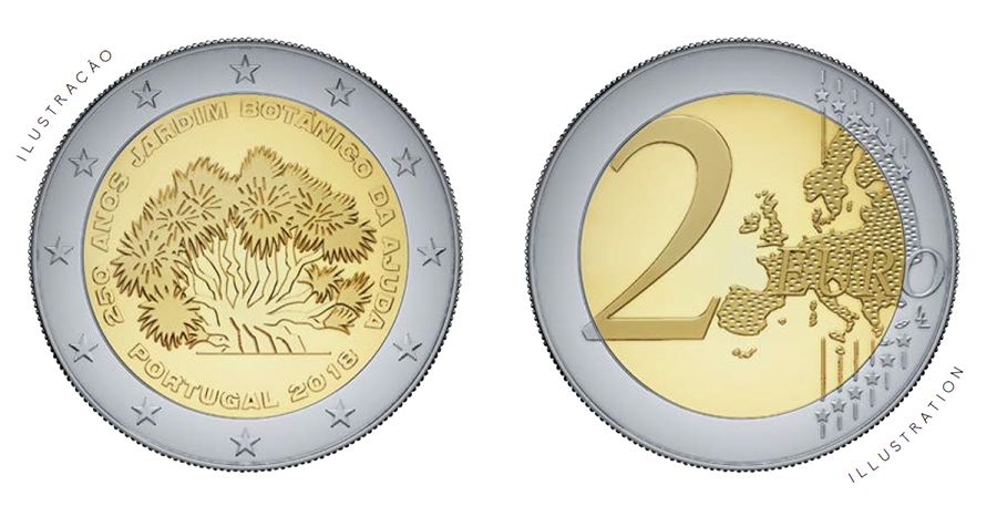 €2 - 250th anniversary of AJUDA botanical garden