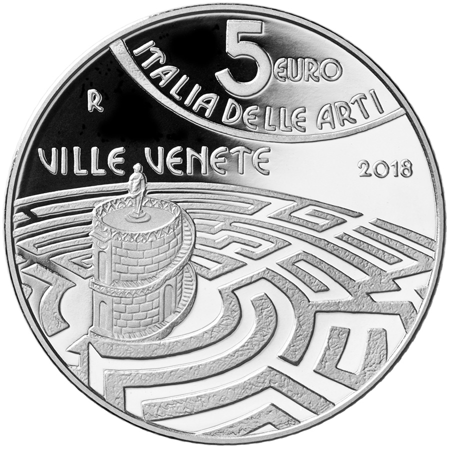 5 euro - The Venetian Villas - Veneto - Italy of Arts Series italy 2018