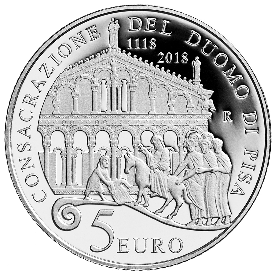5 euro - 900th Anniversary of the consecration of the 1118-2018 italy 2018
