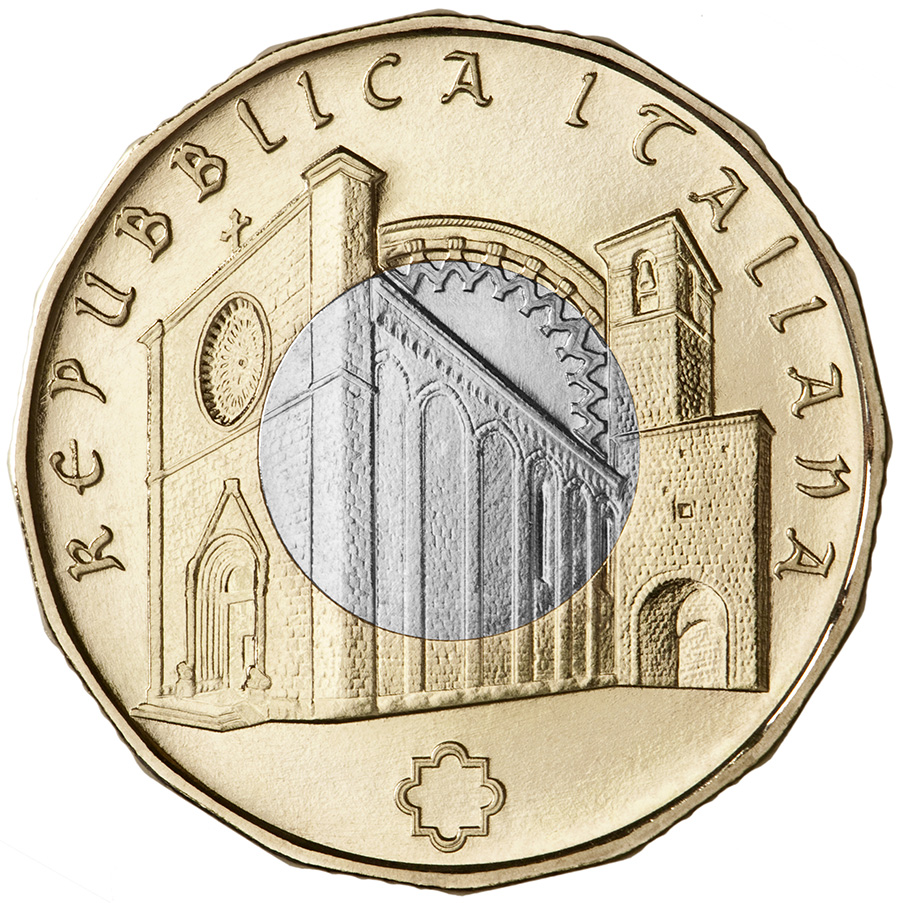 5 euro - Art treasures of Amatrice italy 2018