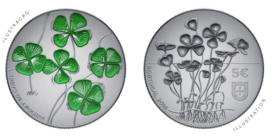 €5 four leave clover