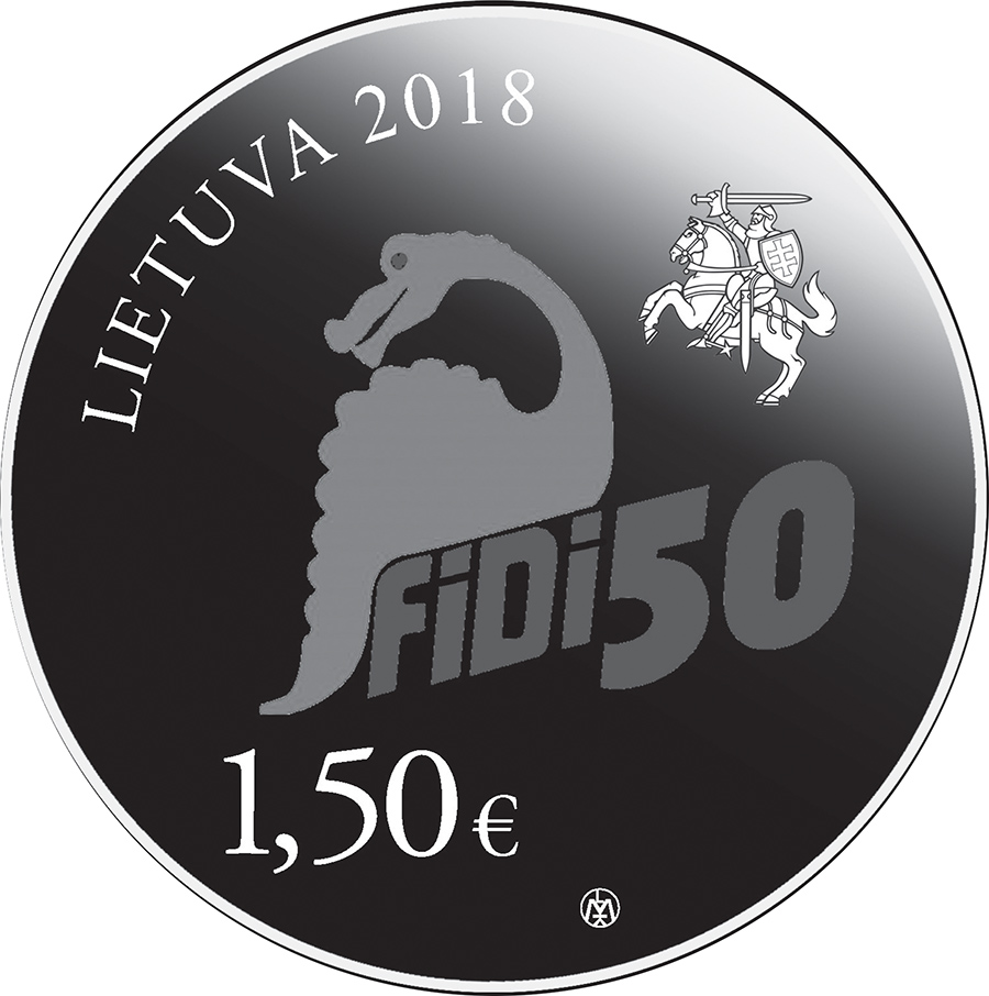 "€1,5 - dedicated to the Vinius University Physicist's Day ""FIDI 50"" 2018"