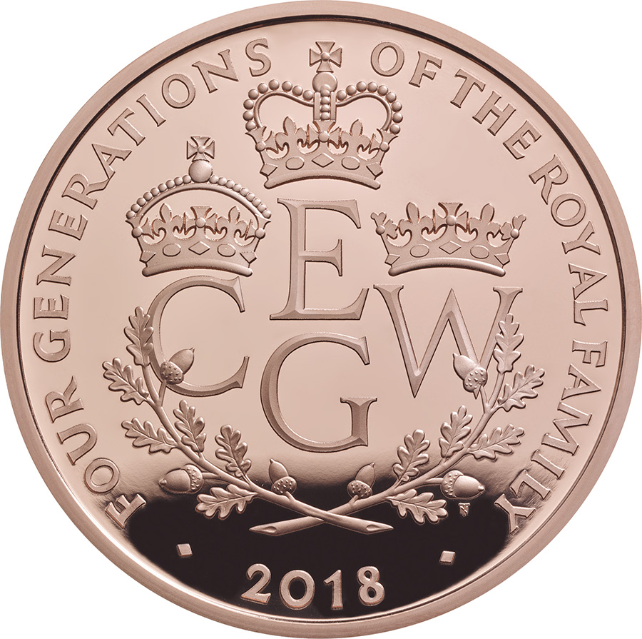 £5 de 39,4g- or 916/1000 Royal Mint 2018