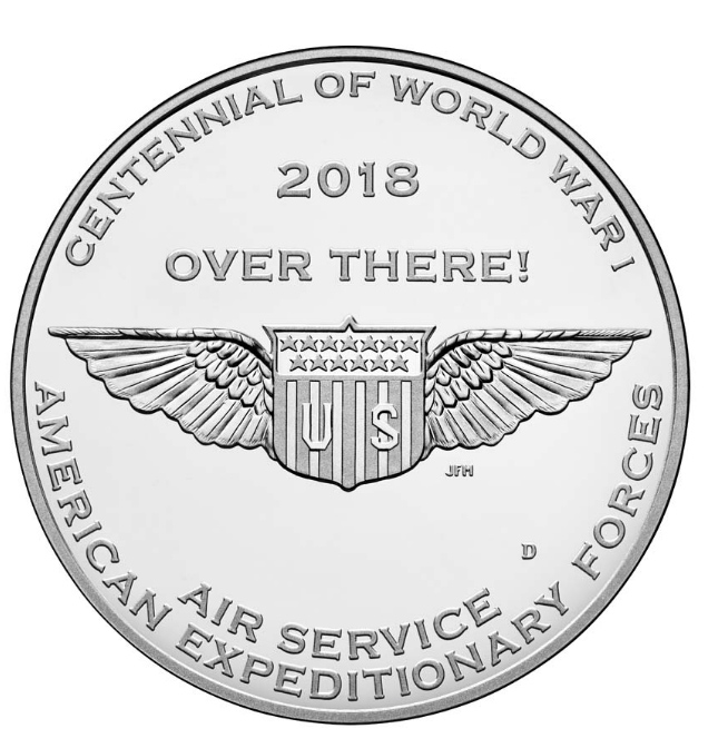 World War I Centennial Air Service Medal — Denver Mint