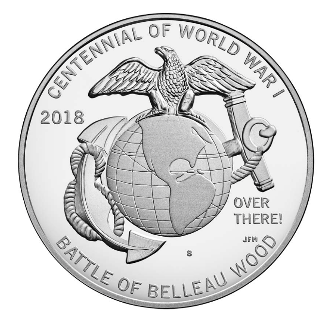 World War I Centennial Marine Corps Medal — San Francisco Mint - Numismag