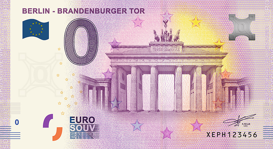 zero_euro_Berlin_Porte de Brandebourg