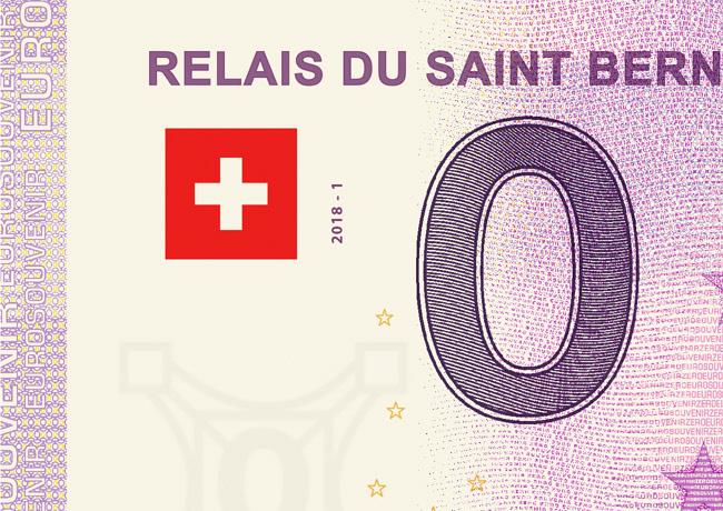 Billet zéro euro souvenir touristique Suisse 2018