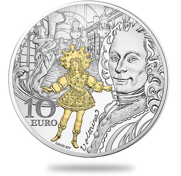 10€ argent - Voltaire et le roi Louis XIV dansant - Epoque Baroque - monnaie de Paris 2018