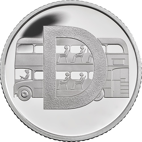 D – Double Decker Bus - 10p 2018 Royal Mint