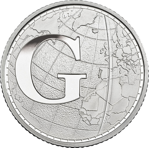 G – Greenwich Mean Time - 10p 2018 Royal Mint