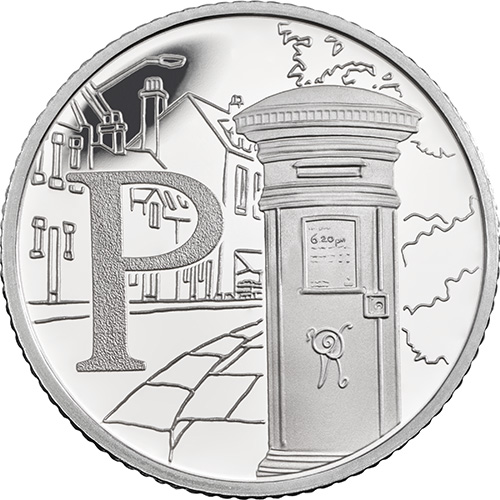 P – Post Box - 10 pence 2018 Royal Mint
