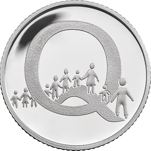 Q – Queuing - 10 pence 2018 Royal Mint