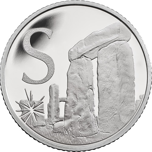 S – Stonehenge - 10 pence 2018 Royal Mint