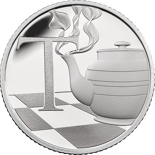 T – Teapot - 10 pence 2018 Royal Mint