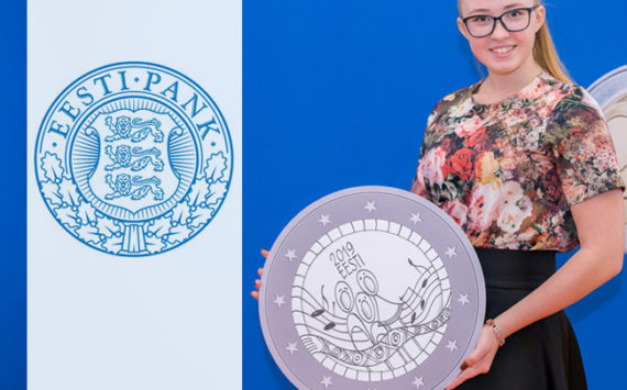 Grete-Lisette Gulbis 15 ans et dessinatrice de la 2€ estonienne 2019 Festival de la Chanson
