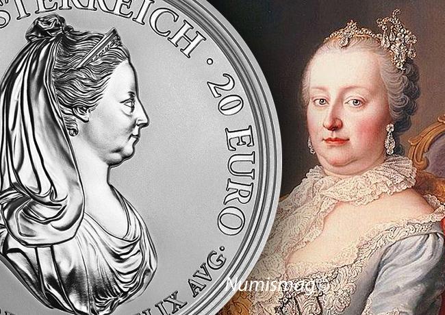 20€ Marie-Thérèse d'Autriche 2018, l'Austrian Mint célèbre l'Autriche Impériale