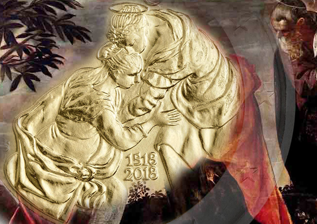 2018 €2 commemorative coin of SAN MARIN dedicated to Renaissance painter TINTORETTO