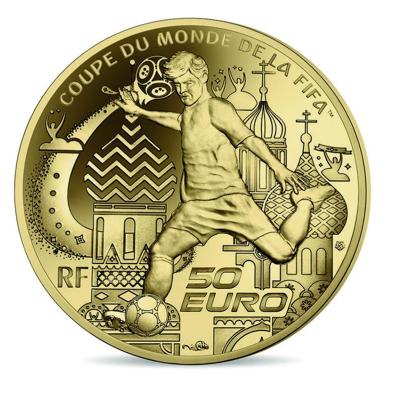 COUPE DU MONDE FOOTBALL FIFA RUSSIE 2018 - Pièces de la Monnaie de Paris