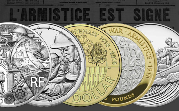 Les monnaies et médailles commémorant les 100 ans de l'armistice de 1918 dans le monde