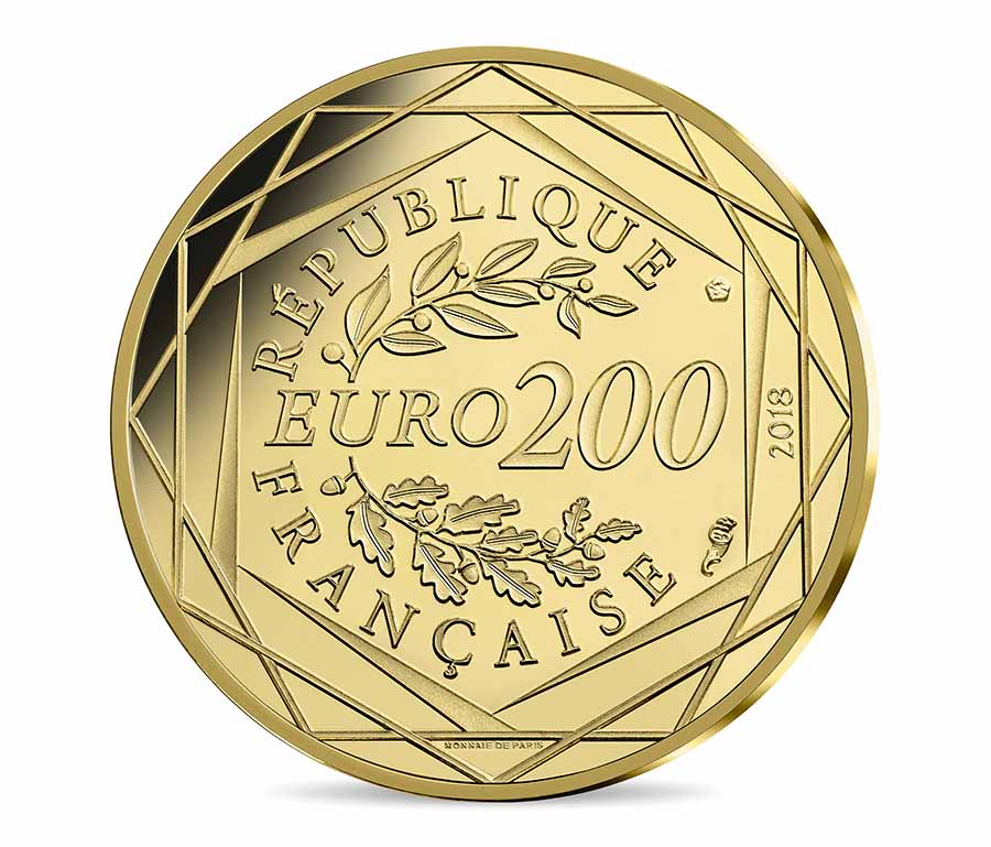 200 euro Or - mickey & la France